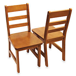 Lipper International Child's Chairs in Pecan (Set of 2)
