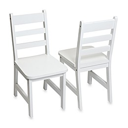 Lipper International Child's Chairs in White (Set of 2)