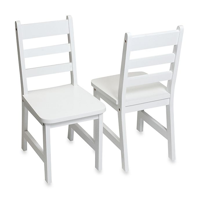 Alternate image 1 for Lipper International Child's Chairs in White (Set of 2)
