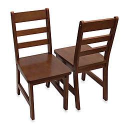 Lipper International Child's Chairs in Walnut (Set of 2)