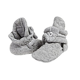 Burt's Bees Baby® Size 6-9M Quilted Booties in Grey