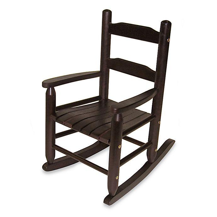 Miraculous Lipper International Childs Rocking Chair In Espresso Bed Short Links Chair Design For Home Short Linksinfo
