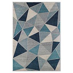 Rugs America Geometric Prism 5' x 7' Area Rug in Blue