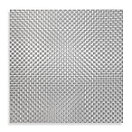 Bistro Woven Square Placemat in Silver