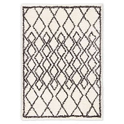 Jaipur Living Maltese Trellis Shag Rug in Ivory/Dark Grey