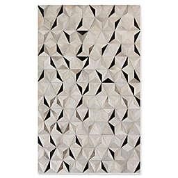 Surya Luiana Geometric Cowhide Rug in Charcoal