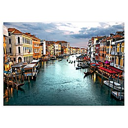 Colossal Images    Venician Canal Canvas Wall Art