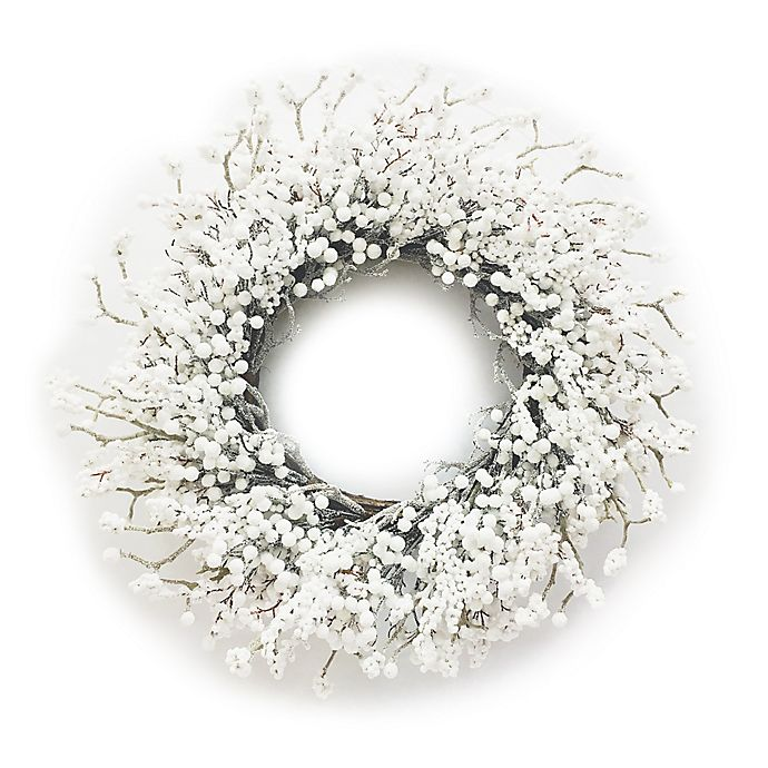Alternate image 1 for Bee & Willow™ Home 30-Inch Berry Artificial Christmas Wreath in White