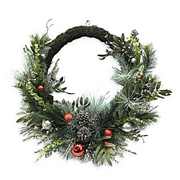 30-Inch Ornament Half Wreath