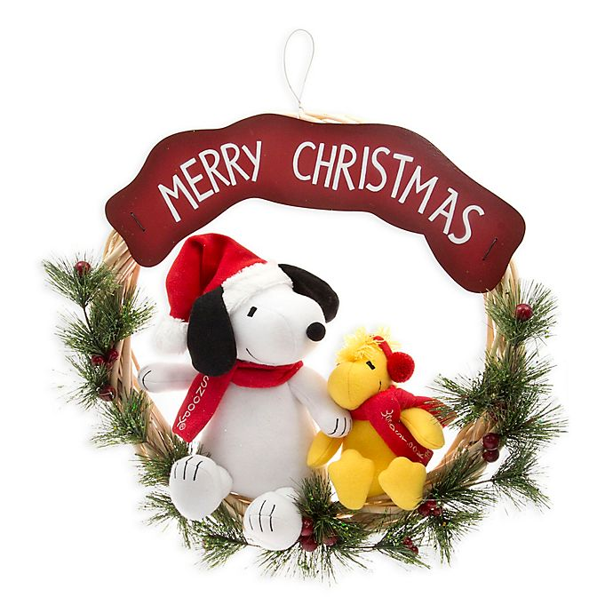 Alternate image 1 for Peanuts™ 22-Inch Snoopy and Friends Christmas Wreath