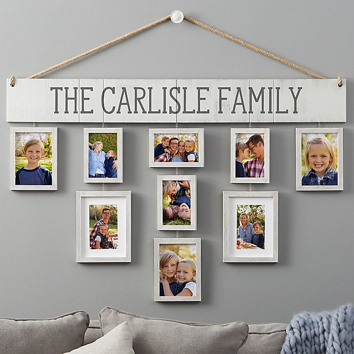 Wallverbs Our Family Personalized Hanging Picture Frame Set Bed Bath Beyond