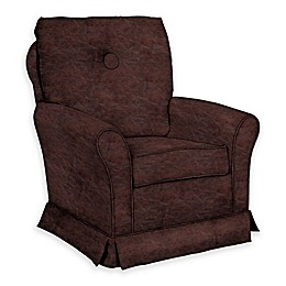 The 1st Chair™ Custom Tate Swivel Glider in Brown Fabrics