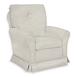 The 1st Chair™ Custom Tate Swivel Glider in White Fabrics