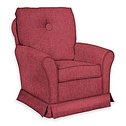 The 1st Chair™ Custom Tate Swivel Glider in Red/Pink Fabrics