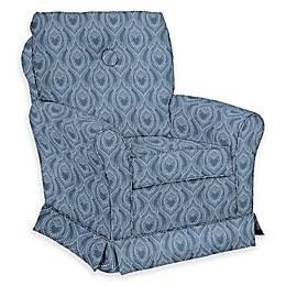 The 1st Chair™ Custom Tate Swivel Glider in Blue Fabrics