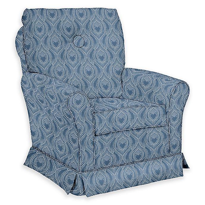 Alternate image 1 for The 1st Chair™ Custom Tate Swivel Glider in Blue Fabrics