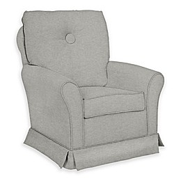 The 1st Chair™ Custom Tate Swivel Glider in Grey Fabrics