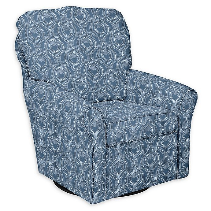 Alternate image 1 for The 1st Chair™ Custom Shelby Swivel Glider in Blue Fabrics
