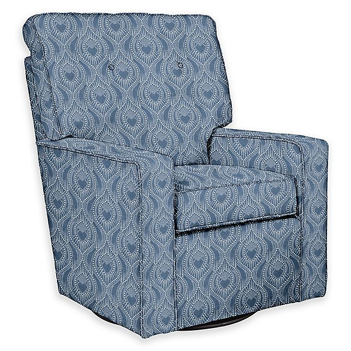 Alternate image 1 for The 1st Chair™ Custom Venus Swivel Glider in Blue Fabrics