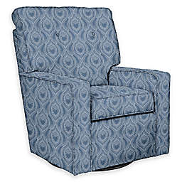 The 1st Chair™ Custom Venus Swivel Glider in Blue Fabrics