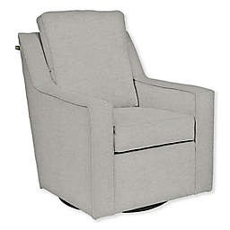 The 1st Chair™ Custom Ellis Swivel Glider in Grey Fabrics
