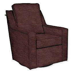 The 1st Chair™ Custom Ellis Swivel Glider in Brown Fabrics