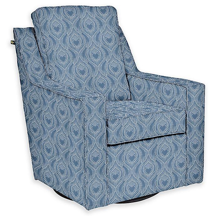 Alternate image 1 for The 1st Chair™ Custom Ellis Swivel Glider in Blue Fabrics