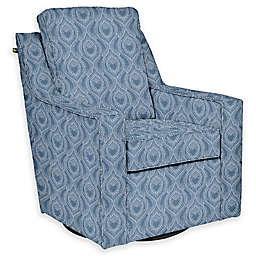 The 1st Chair™ Custom Ellis Swivel Glider in Blue Fabrics