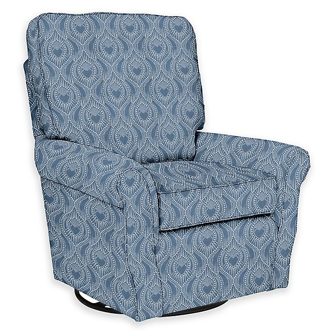 new style 62929 b0ace The 1st Chair™ Custom Ella Grace Swivel Glider in Blue Fabrics