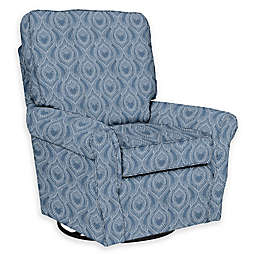 The 1st Chair™ Custom Ella Grace Swivel Glider in Blue Fabrics
