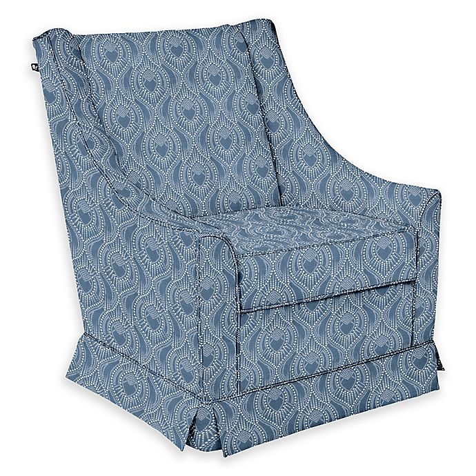 Alternate image 1 for The 1st Chair™ Darcy Swivel Glider in Blue Fabrics