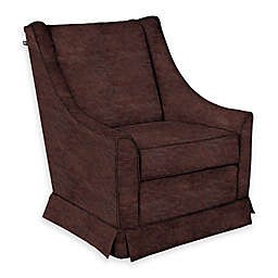 The 1st Chair™ Darcy Swivel Glider in Brown Fabrics