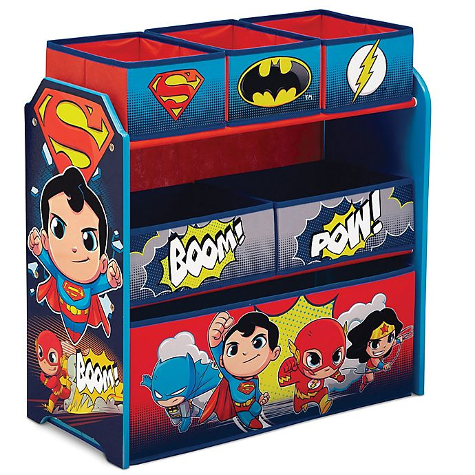 Alternate image 1 for Delta Children DC Super Friends Multi-Bin Toy Organizer