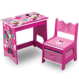 Delta Children Disney® Minnie Mouse Kids Wood Desk and Chair Set in Pink