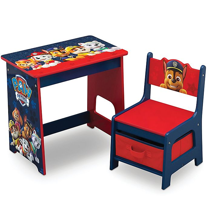 Alternate image 1 for Delta Children Nick Jr. PAW Patrol Kids Wood Desk and Chair Set in Red