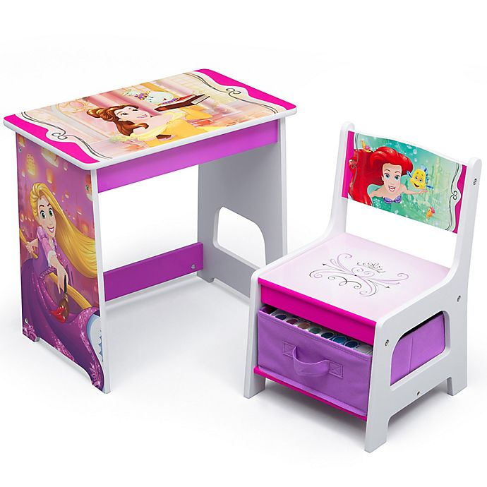 Alternate image 1 for Delta Children Disney® Princess Kids Wood Desk and Chair Set