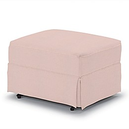 Best Chairs Custom 0056 Gliding Ottoman in Pink