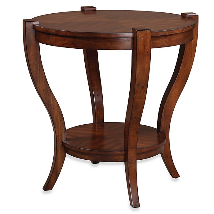 Alternate image 1 for Uttermost Bergman Wood Round End Table