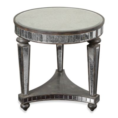 Uttermost sinley antique mirrored accent table bed bath - Bob mackie discontinued bedroom furniture ...