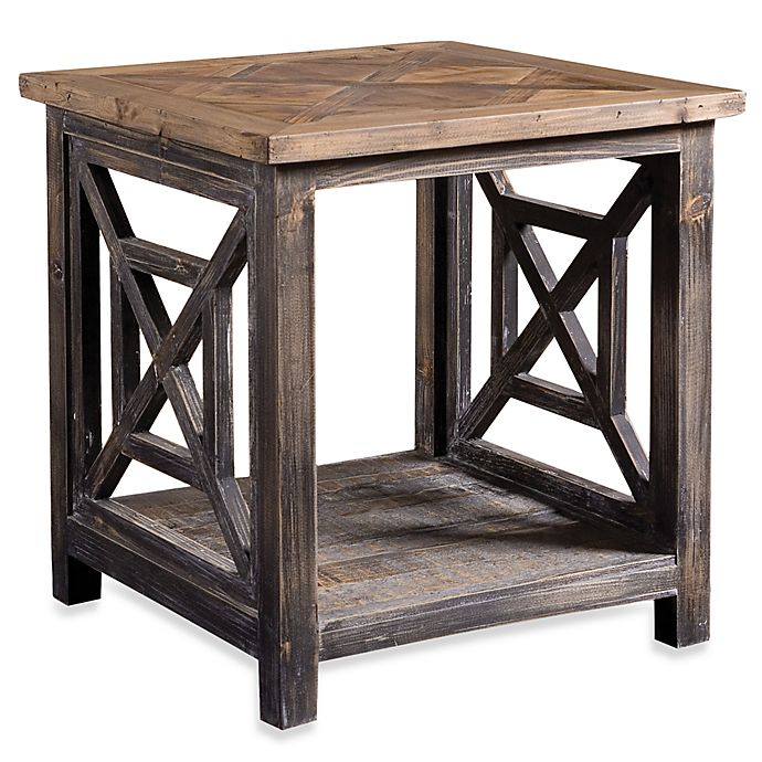 Uttermost Spiro Reclaimed Wood End Table Bed Bath Beyond
