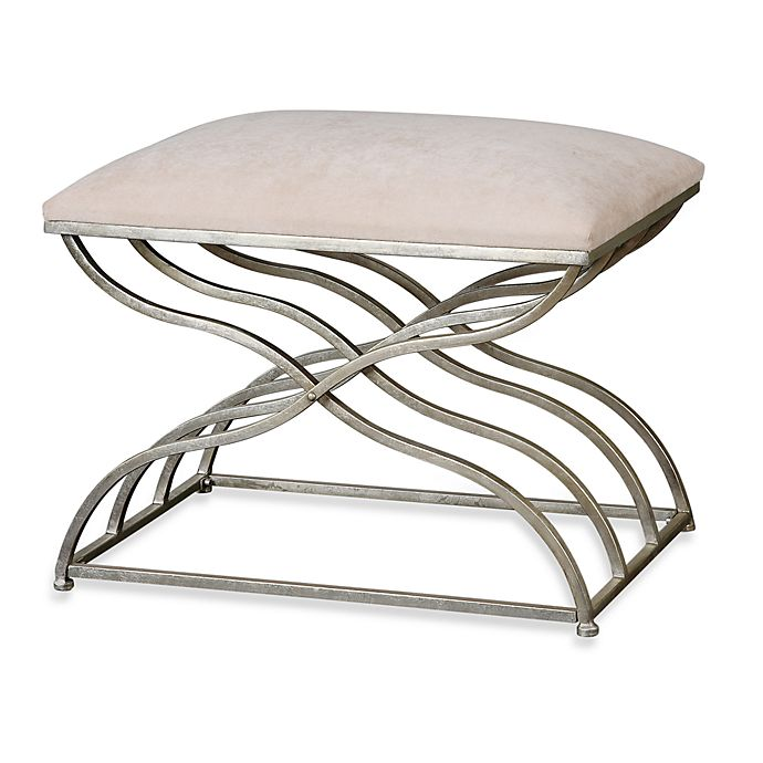 Alternate image 1 for Uttermost Shea Satin Nickel Small Bench