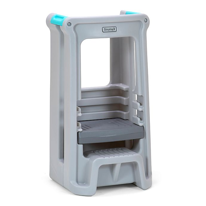 BLUE Kids Toddler Step Stool with Rubber Grips Sink Basin Potty Training