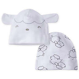 Gerber® Size 0-6M 2-Pack Lamb Caps in Grey