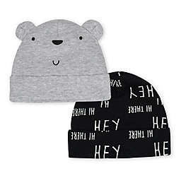 f471e4363bb Gerber reg  Size 0-6M 2-Pack Bear Caps in Grey Black