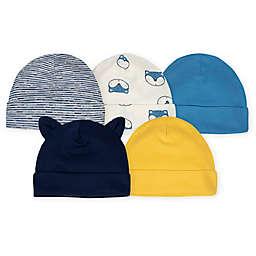 Gerber® Size 0-6M 5-Pack Fox Caps