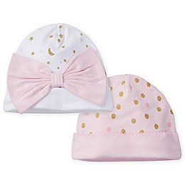 Gerber® Size 0-6M 2-Pack Princess Caps in Pink
