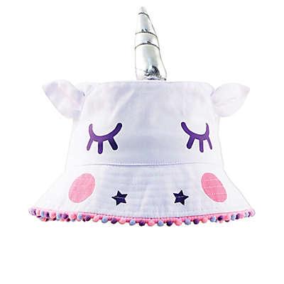 Addie & Tate Unicorn Bucket Hat in Tan/Silver
