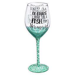 Evergreen I'm a Mermaid Wine Glass with Box