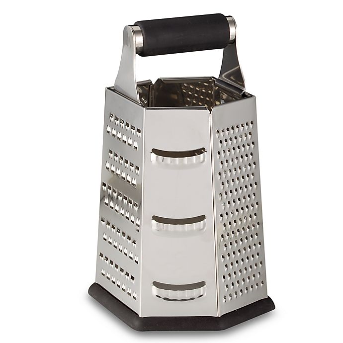 Alternate image 1 for SALT™ 9-Inch Stainless Steel 6-Sided Roll Handle Grater