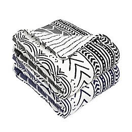 Lush Décor Hygge Geometric Reversible Throw Blanket